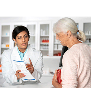 Pharmacist and Patient image